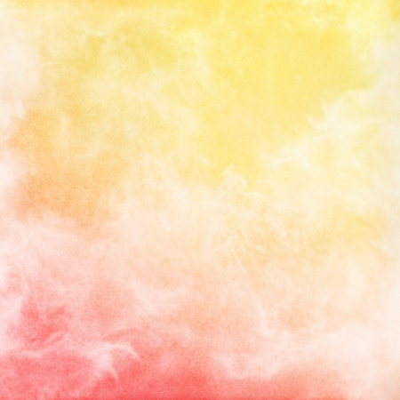 rendition: An abstract rendition of fog, mist, and clouds with a red to yellow gradient   Image has a pleasing grain texture when viewed at 100 percent  Stock Photo