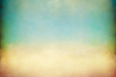 A soft, billowing cloud with vintage colors and textures   Image displays a pleasing paper grain visible at 100 percent  Stock Photo - 20955261