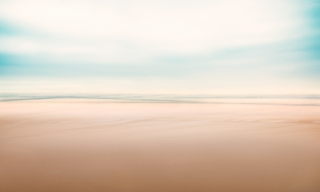defocus: A minimalist, abstract seascape with panning motion combined with a long exposure   Image displays a fine grain texture at 100 percent