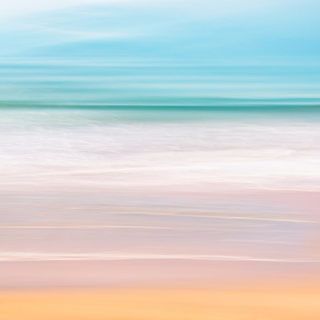 seascape: A tranquil seascape of the Pacific ocean off of California.  Image made using camera panning motion combined with a long exposure.