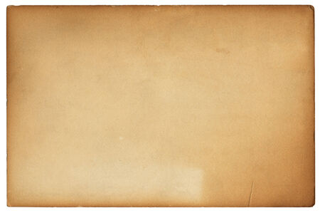 discolorations: An old vintage postcard with brown discolorations.  File includes a clipping path.