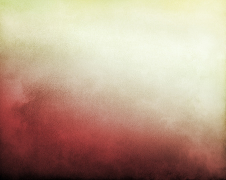 Fog and clouds on a red to bright, yellowish white textured gradient background   Image displays significant paper grain and texture at 100 percent  photo