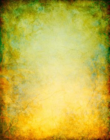 Un fondo grunge vintage con colores pátina similar y un rojo oxidado de degradado de color verde. Imagen muestra de papel de grano y textura significativa cuando mires al 100 por ciento. Foto de archivo - 34113181