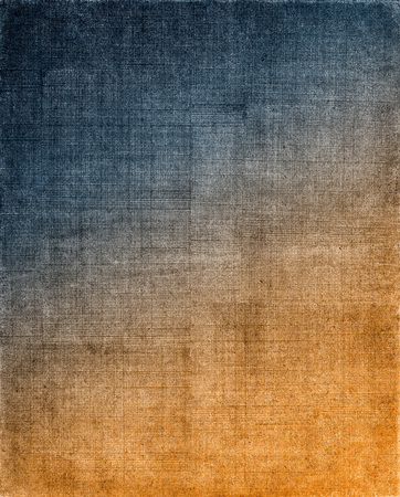grid pattern: Vintage cloth with a blue to orange screen pattern and grunge background textures.  Image displays a strong grain texture when viewed at 100 percent.