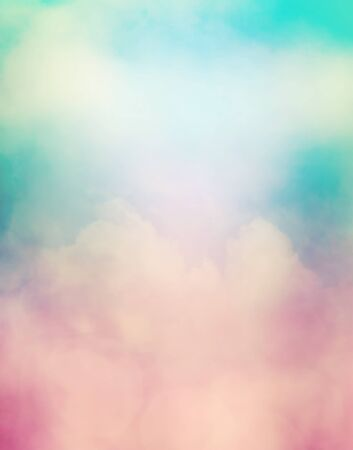 displays: A soft focus abstraction of clouds, fog and subtle bokeh light effects. Image displays a soft, retro look.