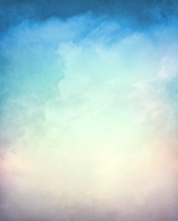 distressed: An abstraction of clouds and fog on a textured background with a multi-colored gradient.  Image displays a distinct paper grain and texture at 100 percent.