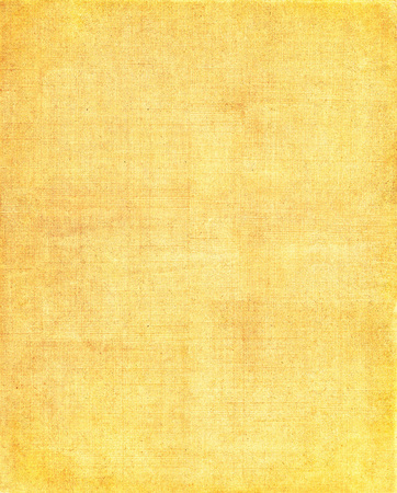 grid background: An old cloth book cover with a yellow mesh pattern. Stock Photo