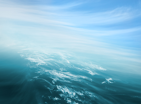 specular: An abstraction of ocean and sky with blurred camera motion.