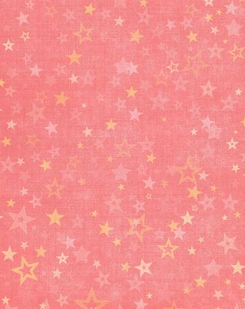 Star shapes on a textured pink cloth background. Banco de Imagens