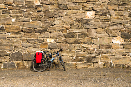 chellange: bicycle at a wall Stock Photo