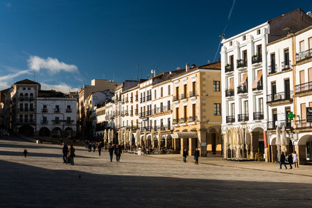 market place: Market place in Caceres, Spain