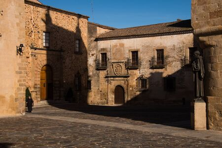 extremadura: historical houses in Caceres in Extremadura Stock Photo