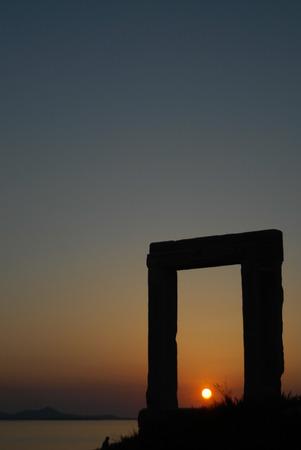 naxos: Portara in Naxos Stock Photo