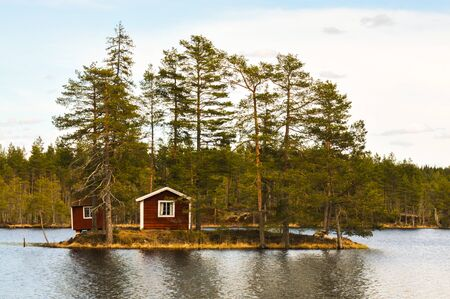 traditional timber house on a island