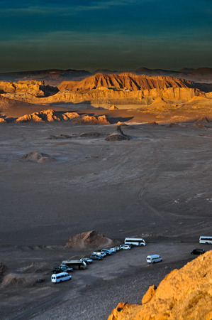 characteristic: Tourist bus in the atacama desert