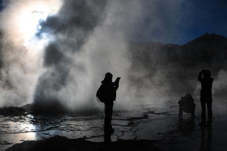 gush: geyser gush spring steam El Tatio Chile