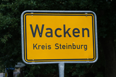 place-name sign of Wacken Open Air Festival
