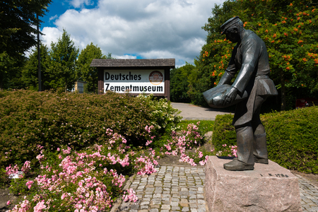 Jul. 2017, Hemmoor germany, Entrance of the German Cement Museum in summer Editorial