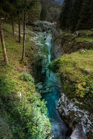 Autumn mood in the Triglav National Park, Tolmin, Slovenia, Europe