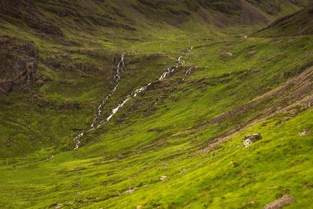Typical landscape with pastures on the Gaelic peninsula Applecross, Strathcarron, Inner Hebrides, Scotland, UK