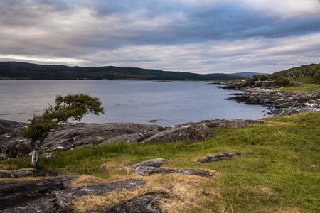 typical landscape on the coast of the Isle of Mull, Inner Hebrides, Scotland, United Kingdom