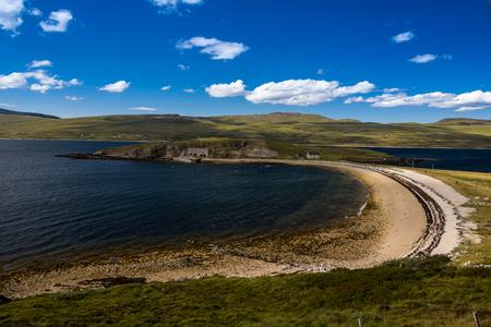 Caribbean beaches at Lochinver, Sutherland, Highlands Scotland Stock Photo