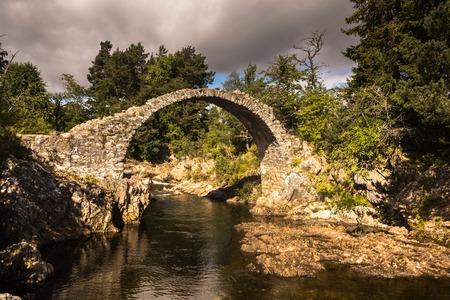 Old Stone Bridge, Highlands, Carrbridge, Cairngorms National Park, Highland Scotland UK
