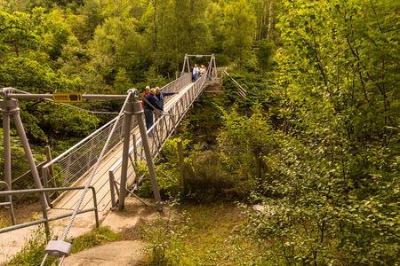 Corrieshalloch Gorge, Falls of Measach, Observation Deck, Ullapool Scotland UK Stock Photo