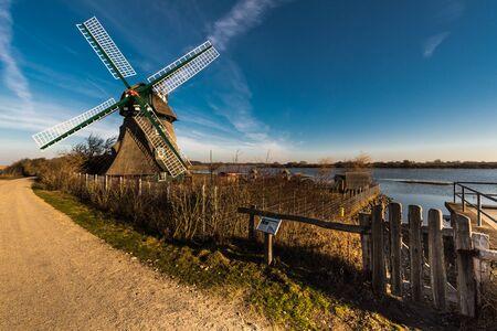 Febr. 2019, Geltinger Birk, nature reserve Schleswig Holstein Germany Windmill Charlotte