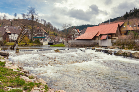 Beautuful Schiltach in Black Forest, River Kinzig, Rottweil, Baden Wuerttemberg, Germany Stock Photo - 122190110