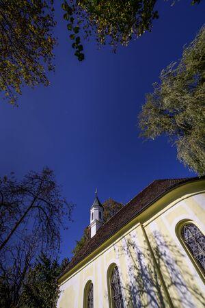 Chapel St. Jakobus in lakeside Starnberger See, Bavaria, Germany