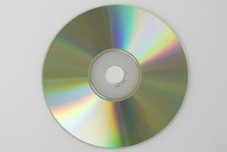 A Compact Disc on gray background. Not isolated.
