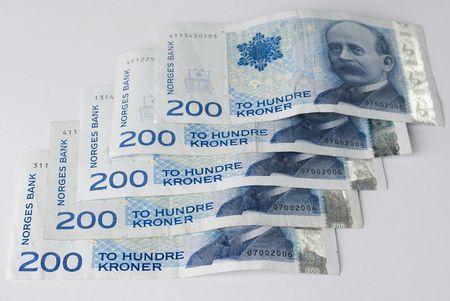 Norwegian two hundreds crones paper banknote Stock Photo - 5190866