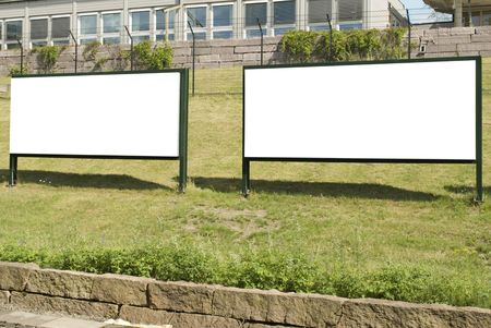 Big White Blank Outdoor Billboards, just add your text Stock Photo