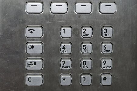 Close up image of a public pay phone keypad Stock Photo - 5332447