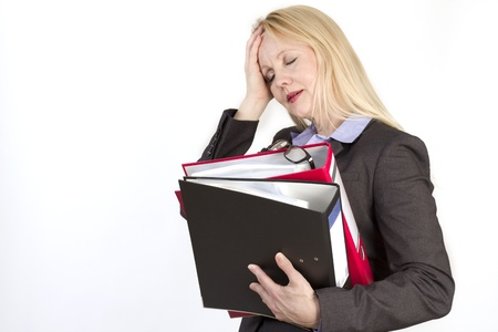 Close-up portrait of an adult beautiful business woman. Stock Photo