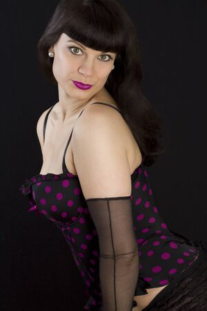 pinup girl: Beautiful Sexy Pin-Up Girl. Not isolated.