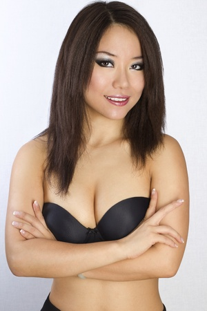 Closeup portrait of Young and Beautiful asian woman. Not isolated. Stock Photo - 12010588