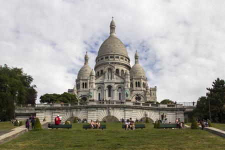 sacre coeur: La basilique du Sacré-C?ur. Sacré Coeur. Paris. France. Banque d'images