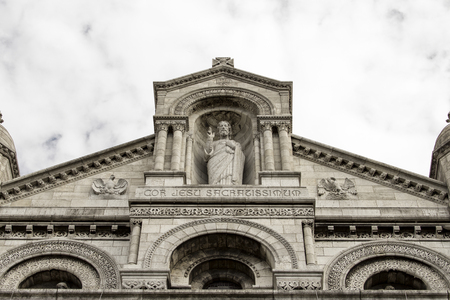 sacre coeur: The Basilica of the Sacred Heart. Sacre-Coeur. Paris. France. Banque d'images