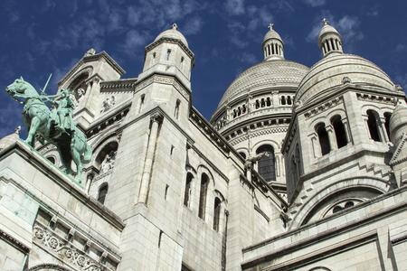sacre coeur: The Basilica of the Sacred Heart. Sacre-Coeur. Paris. France. Banque d'images