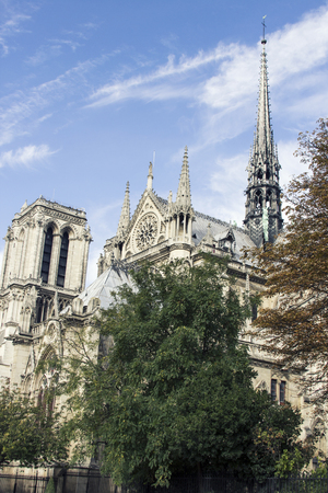 ile de la cite: Catholic cathedral on the Ile de la Cite in the fourth arrondissement of Paris