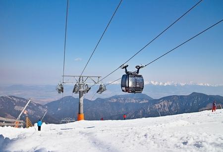 On top of Chopok Slovakia.