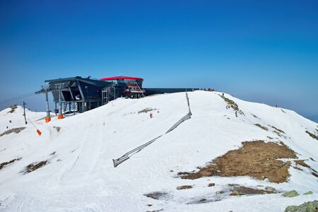 in low spirits: Top station Chopok Juh - Low Tatras.