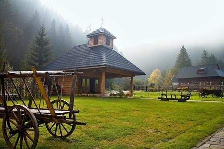 ruzomberok: Ruzomberok - entrance to the Cutkovska valley with chapel.