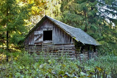 ruzomberok: Ruzomberok - Cernova, abandoned old hut in Cutkovska valley. Stock Photo