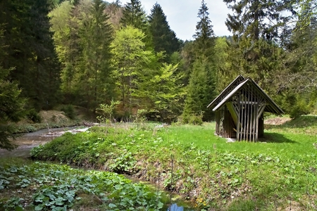 Cratch for forest animals in Gader valley in Great Fatra.