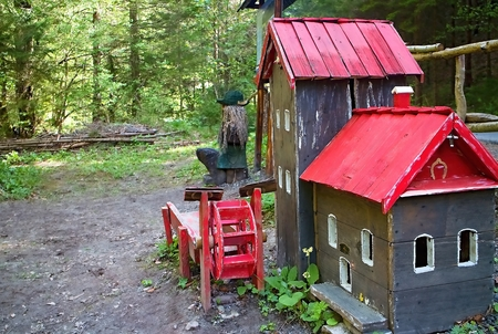 Water Mill Model at Gader river in Gaderska Valley - part of Mlyncekovo known place made by Blatnica pensioners. Imagens