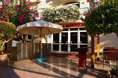 Tasty dishes prepared in Arabic style restaurant for guests in Hurghada.