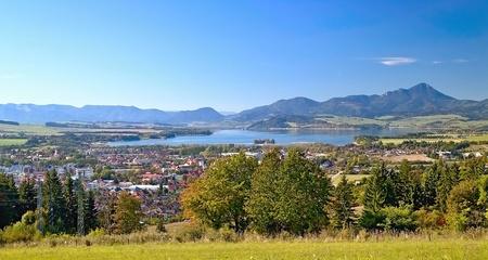 View from Haj-Nicovo to the part of Liptovsky Mikulas and the well-known dam Liptovska Mara. Imagens